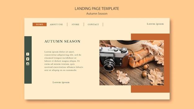 Plantilla de página de destino de concepto de otoño