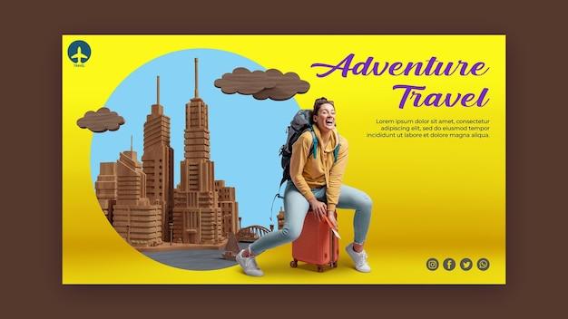 Plantilla de página de destino de concepto de viaje