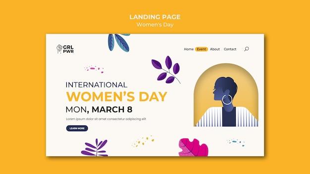 Plantilla de página de destino del día internacional de la mujer