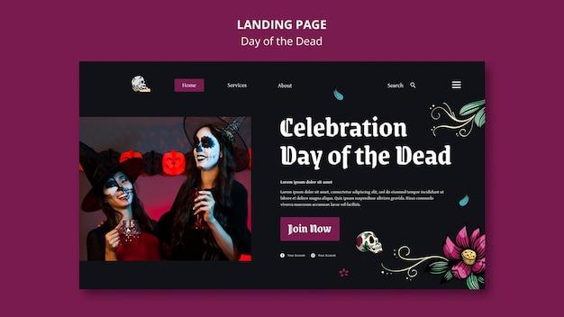 Plantilla de página de destino del día de muertos