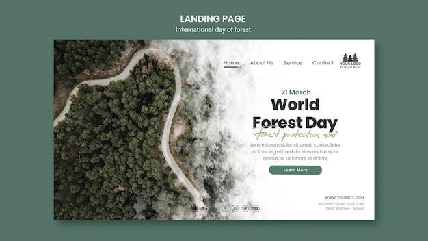 Plantilla de página de destino del día mundial de los bosques