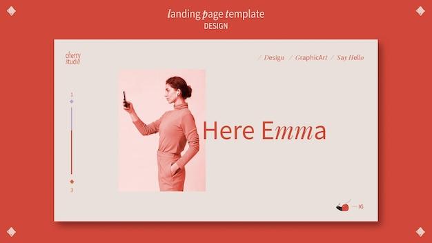 Plantilla de página de destino para diseñador gráfico