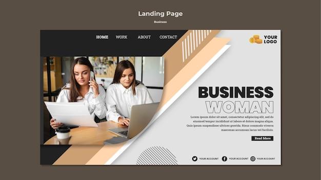 Plantilla de página de destino empresarial con foto