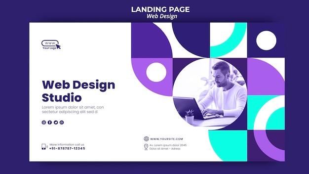 Plantilla de página de destino de estudio de diseño web