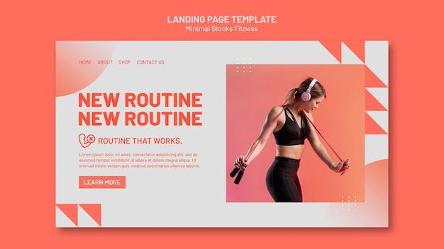 Plantilla de página de destino de fitness