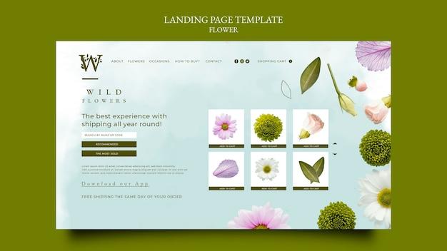 Plantilla de página de destino de flowershop