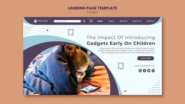 Plantilla de página de destino de impacto de gadget