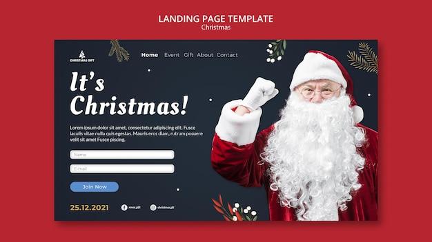 Plantilla de página de destino mágica navideña