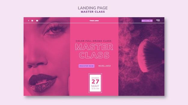Plantilla de página de destino para masterclass