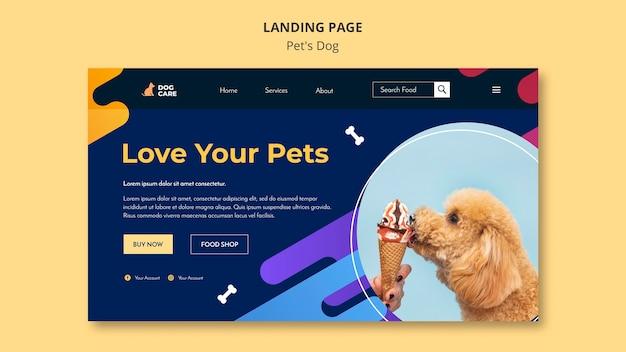Plantilla de página de destino para negocio de tienda de mascotas