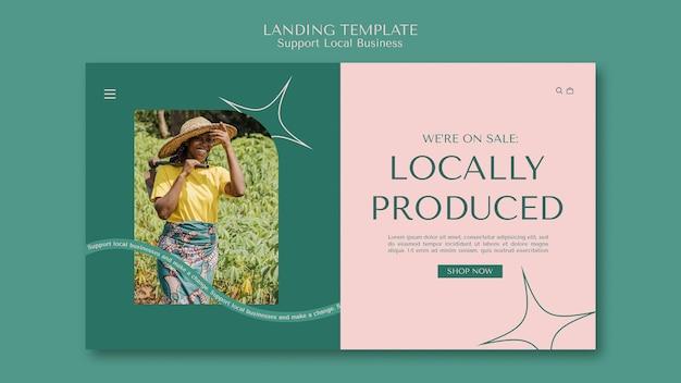 Plantilla de página de destino de negocios locales