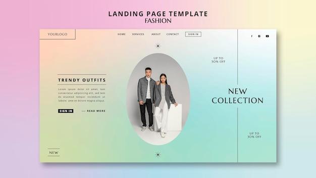 Plantilla de página de destino de nueva colección de moda