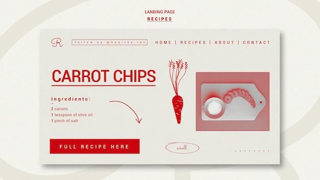 Plantilla de página de destino de recetas dibujadas a mano