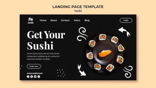 Plantilla de página de destino de sushi