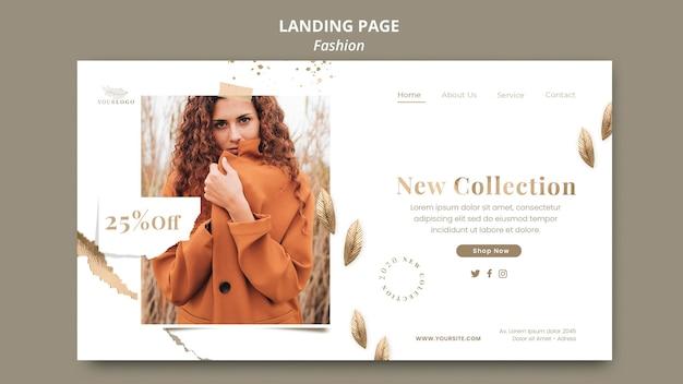 Plantilla de página de destino de tienda de moda