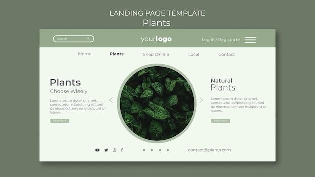 Plantilla de página de destino de tienda de plantas