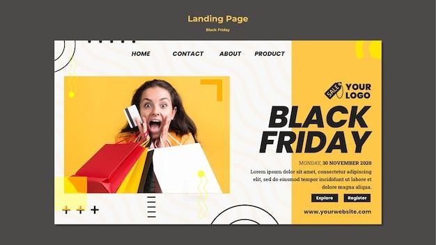 Plantilla de página de destino de viernes negro