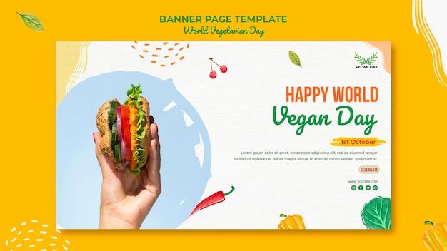 Plantilla de página de inicio del día mundial del vegetariano