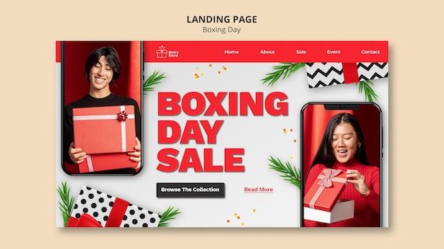 Plantilla de página de inicio de ventas del día de san esteban