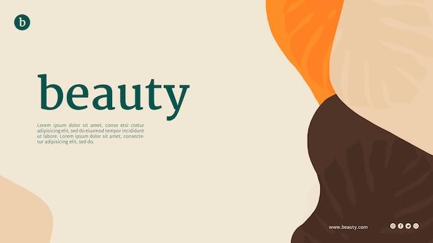 Plantilla de página web de belleza con formas abstractas