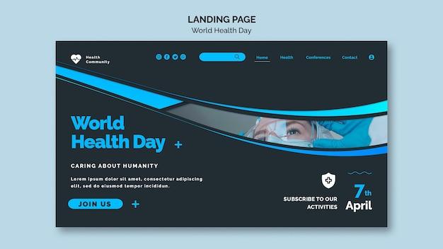 Plantilla de página web del día mundial de la salud