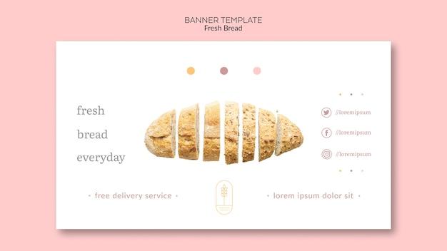 Plantilla de pancarta concepto pan