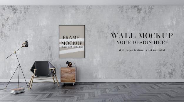 Plantilla de pared y marco delgado