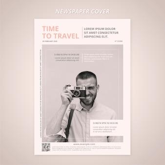 Plantilla de periódico de portada de viaje