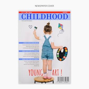 Plantilla de periódico sobre infancia