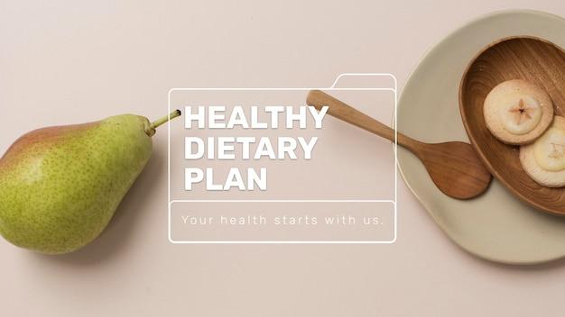 Plantilla de plan dietético saludable psd