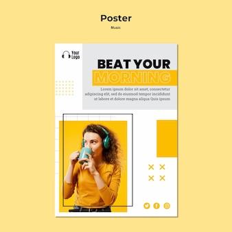 Plantilla de plataforma de música de póster