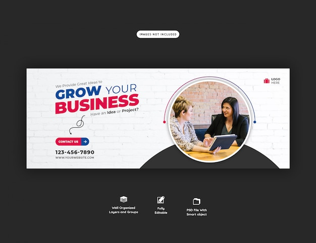 Plantilla de portada corporativa y promoción empresarial