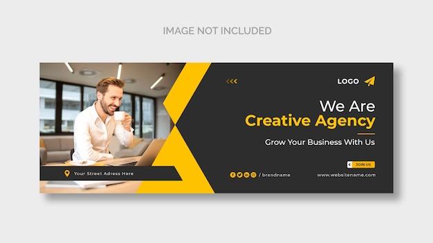 Plantilla de portada de facebook de agencia creativa