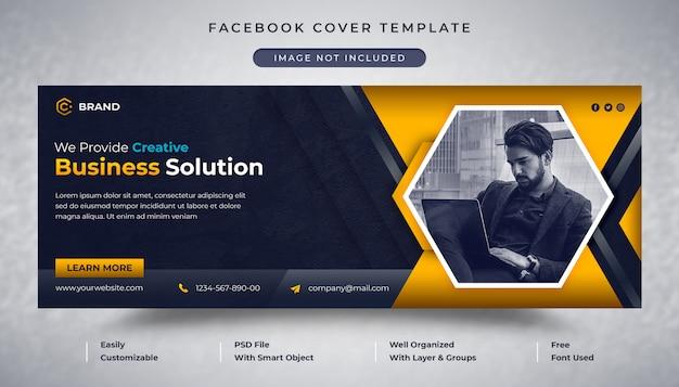 Plantilla de portada de facebook y banner web de agencia de negocios corporativos