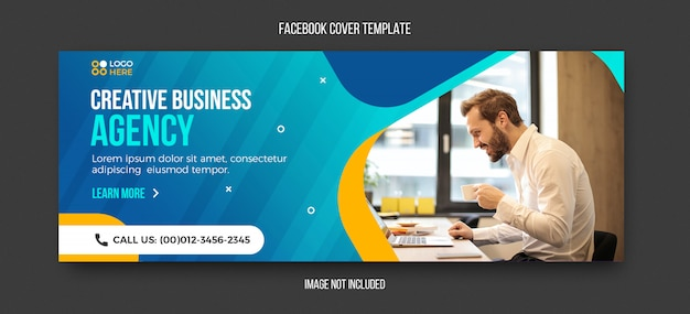 Plantilla de portada de facebook corporativa y empresarial