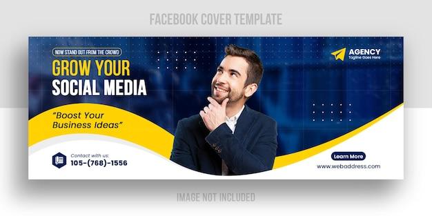Plantilla de portada de facebook empresarial y corporativa
