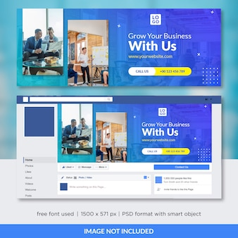 Plantilla de portada de facebook para empresas