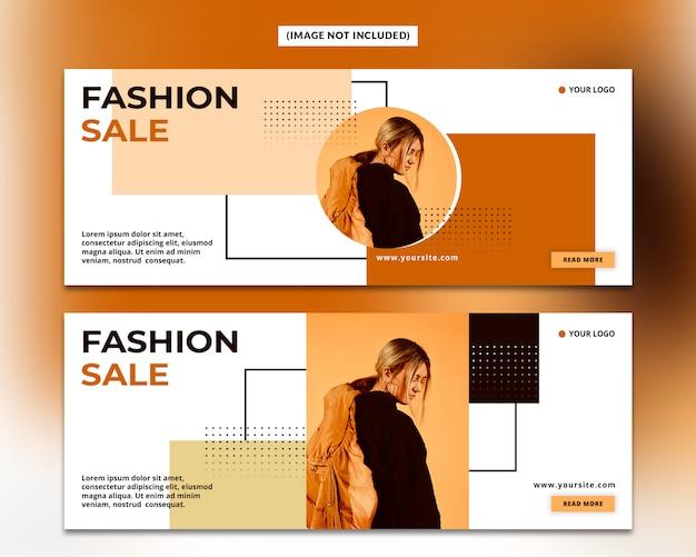 Plantilla de portada de facebook de moda