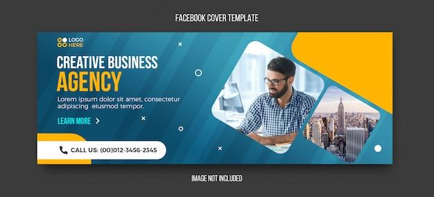 Plantilla de portada de facebook moderna de agencia