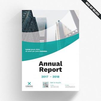 Plantilla de portada de informe anual verde