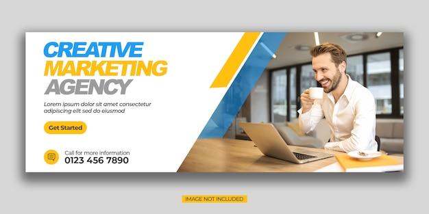 Plantilla de portada de promoción empresarial y redes sociales corporativas