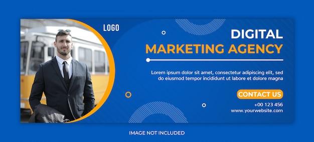 Plantilla de portada de publicación de redes sociales de promoción comercial o facebook