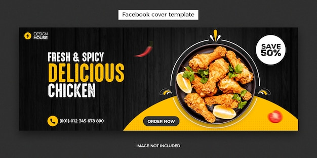 Plantilla de portada de restaurante de facebook