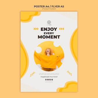 Plantilla de positivismo para póster