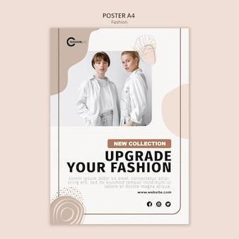 Plantilla de póster de actualización de moda