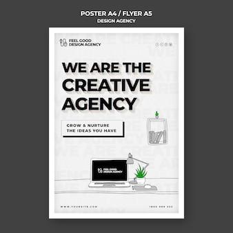 Plantilla de póster de agencia de diseño