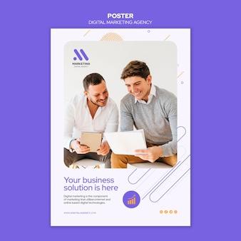 Plantilla de póster de agencia de marketing digital