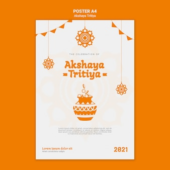 Plantilla de póster de akshaya tritiya