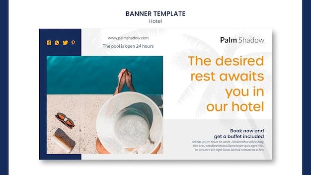 Plantilla de póster de anuncios de hotel