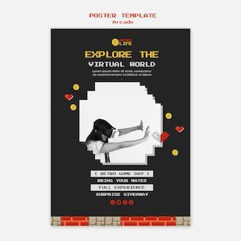 Plantilla de póster de arcade